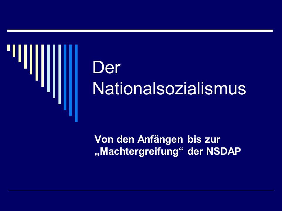 Der Nationalsozialismus