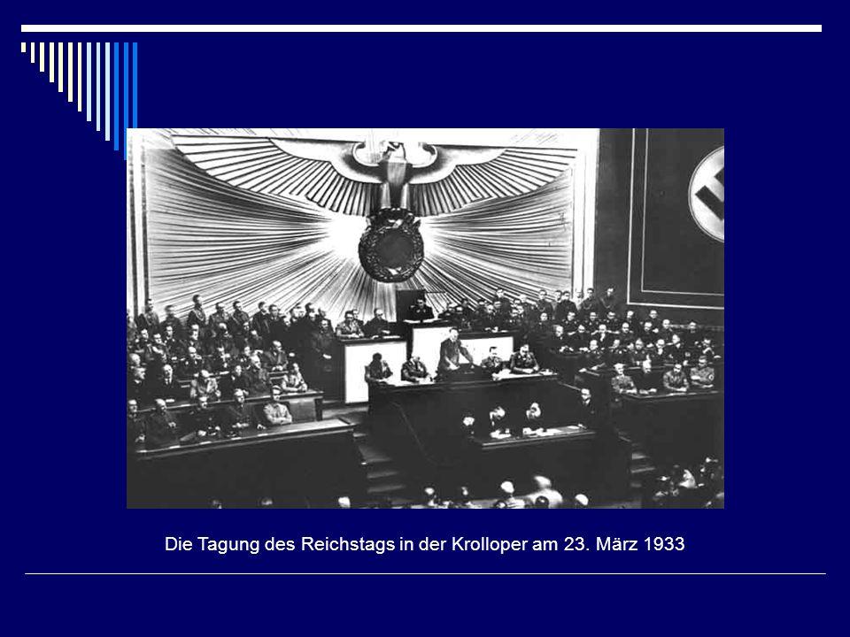 Die Tagung des Reichstags in der Krolloper am 23. März 1933