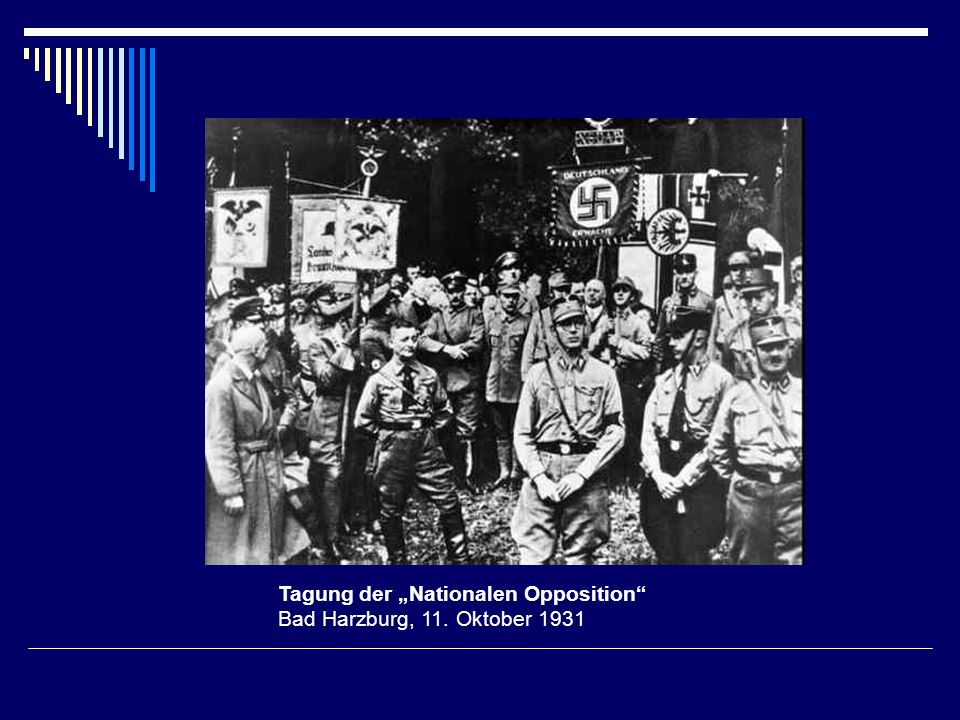 "Tagung der ""Nationalen Opposition Bad Harzburg, 11. Oktober 1931"