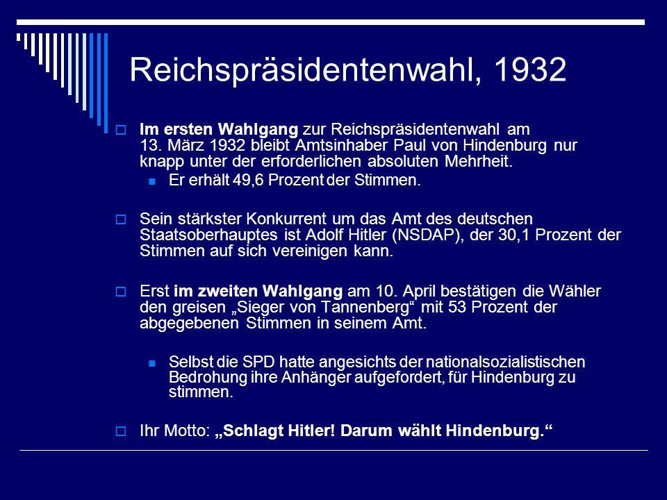 Reichspräsidentenwahl, 1932