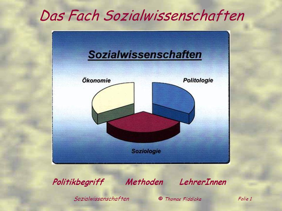 Das Fach Sozialwissenschaften