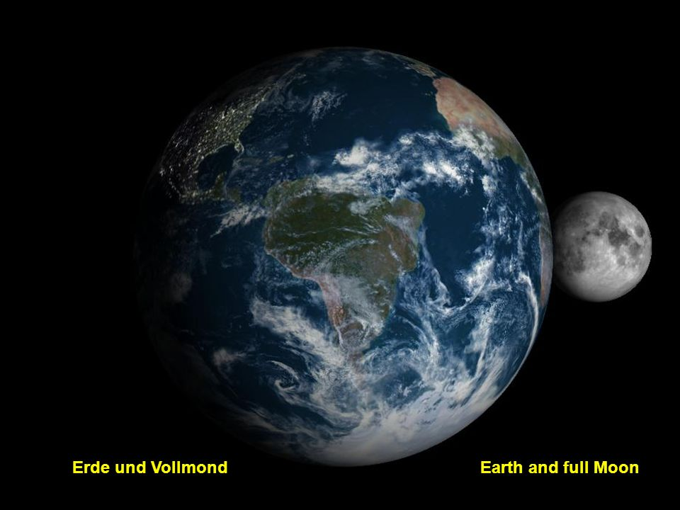 Erde und Vollmond Earth and full Moon
