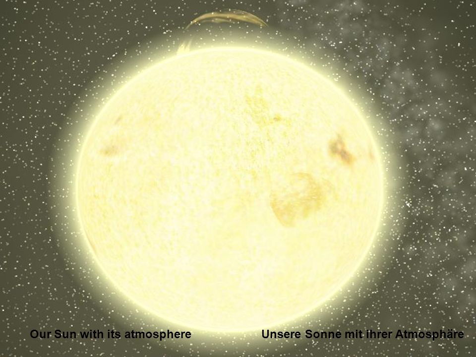 Our Sun with its atmosphere