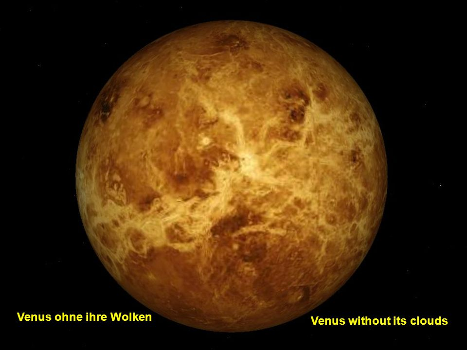 Venus without its clouds