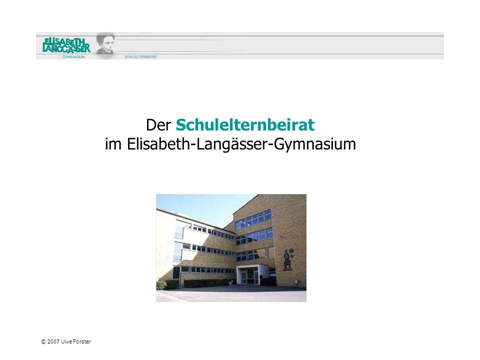Der Schulelternbeirat im Elisabeth-Langässer-Gymnasium