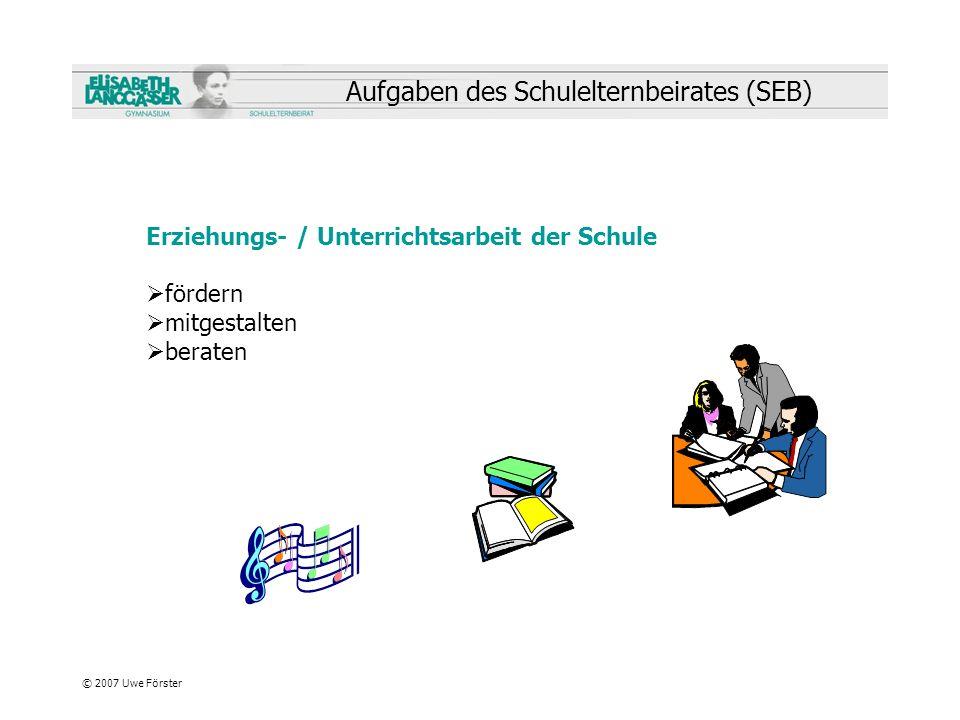 Aufgaben des Schulelternbeirates (SEB)