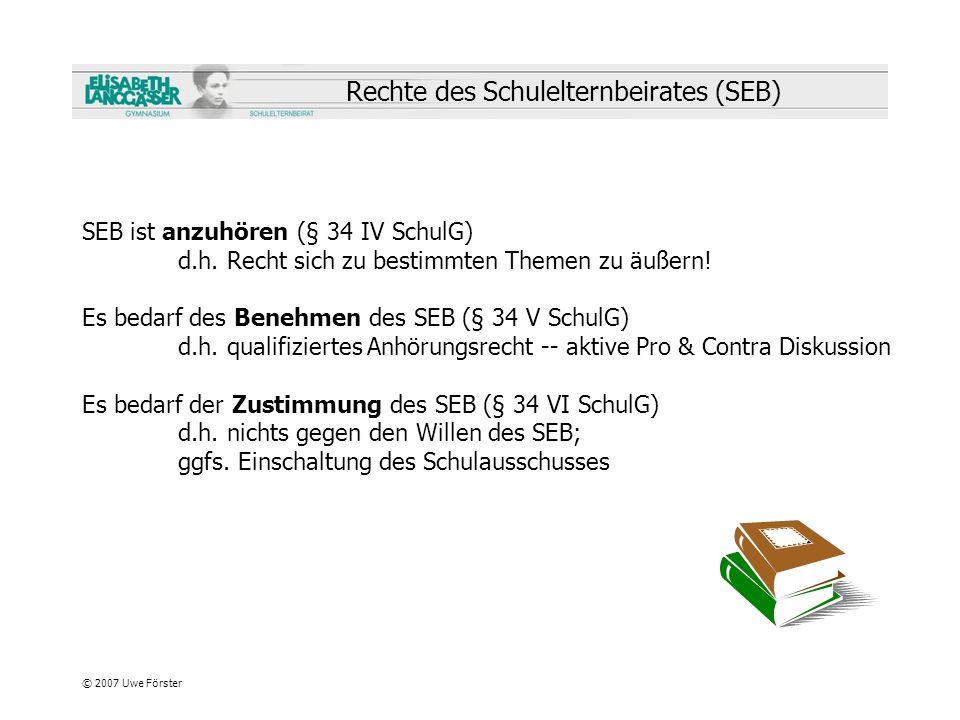 Rechte des Schulelternbeirates (SEB)