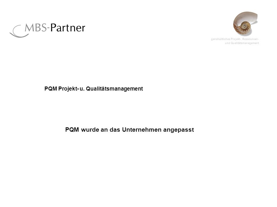 PQM Projekt- u. Qualitätsmanagement