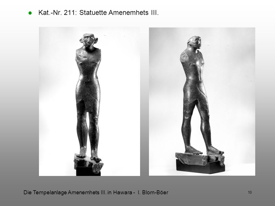 Kat.-Nr. 211: Statuette Amenemhets III.