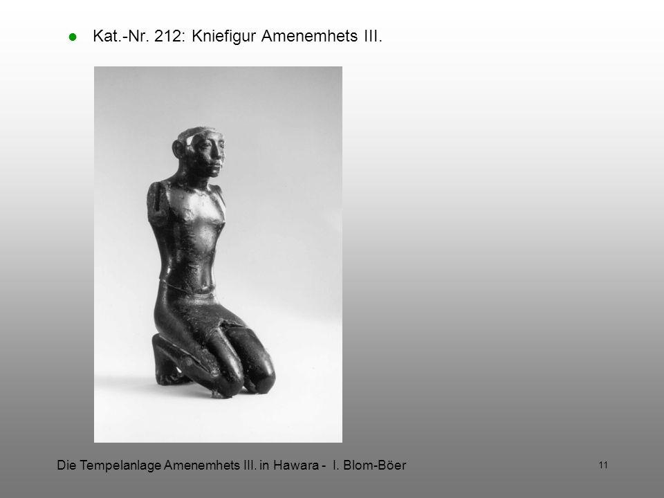 Kat.-Nr. 212: Kniefigur Amenemhets III.