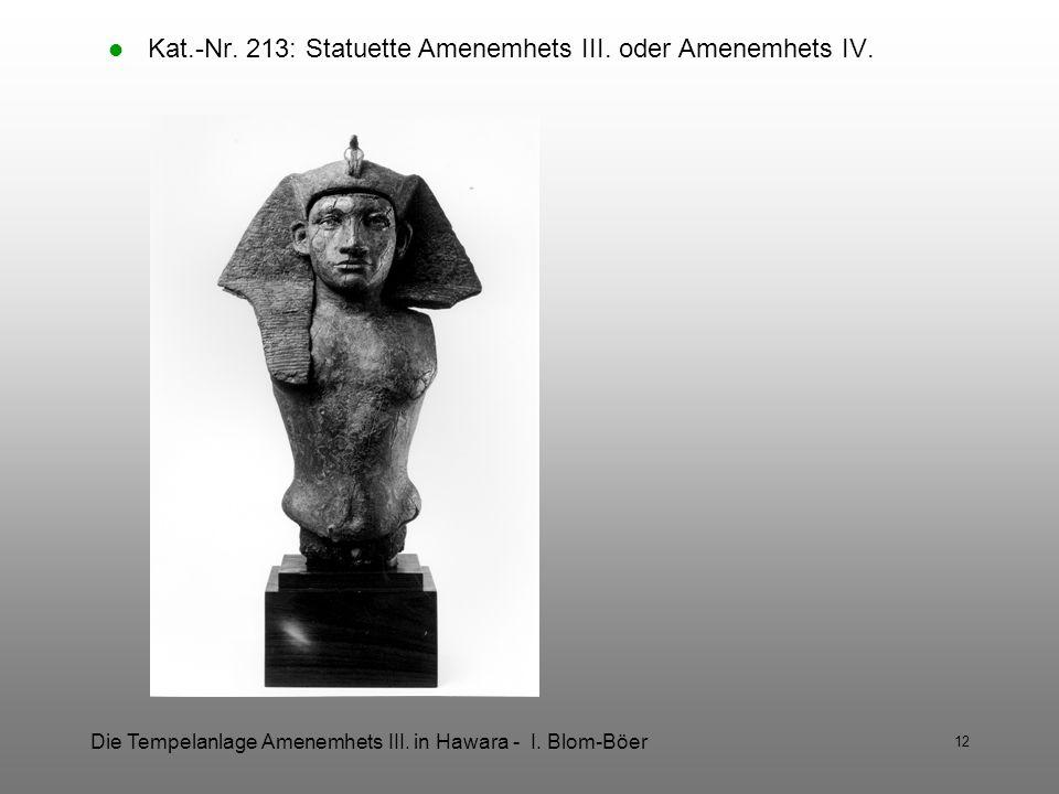 Kat.-Nr. 213: Statuette Amenemhets III. oder Amenemhets IV.