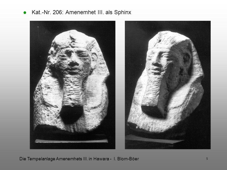 Kat.-Nr. 206: Amenemhet III. als Sphinx