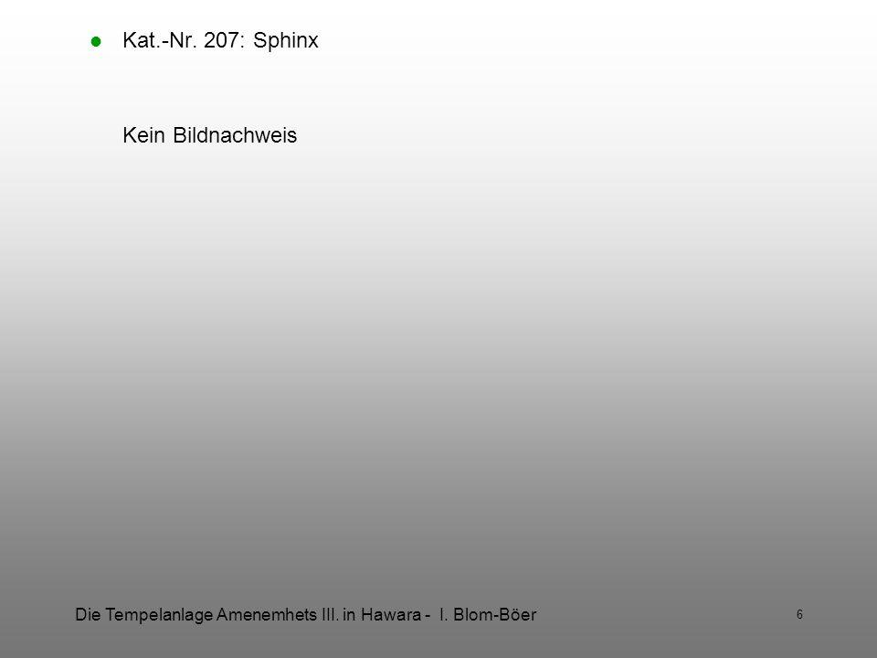 Kat.-Nr. 207: Sphinx Kein Bildnachweis