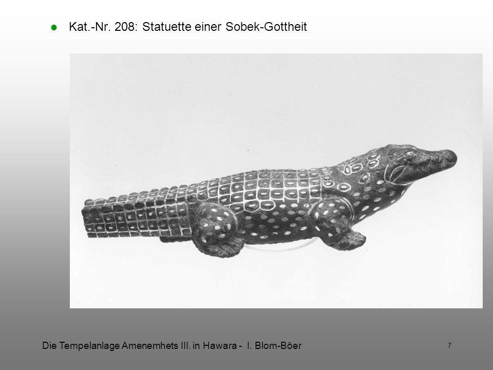 Kat.-Nr. 208: Statuette einer Sobek-Gottheit