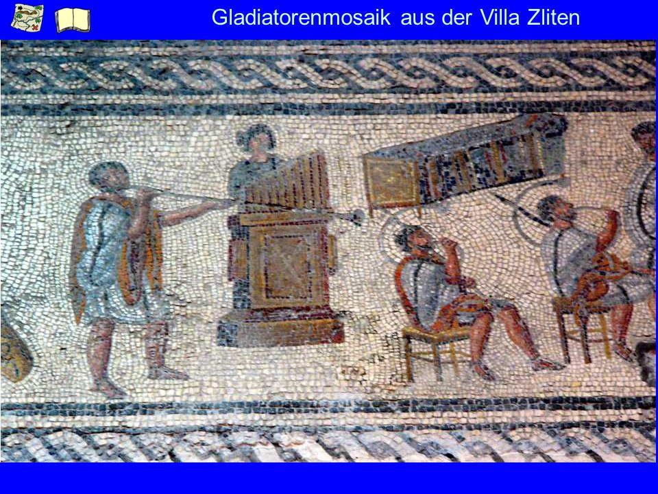 Gladiatorenmosaik aus der Villa Zliten