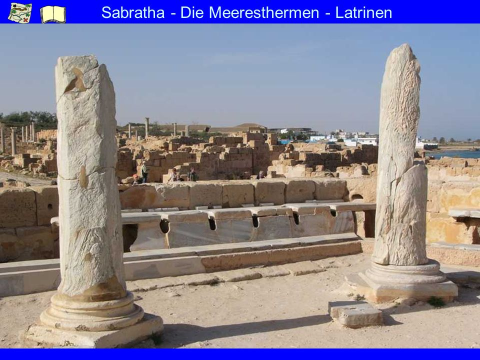 Sabratha - Die Meeresthermen - Latrinen