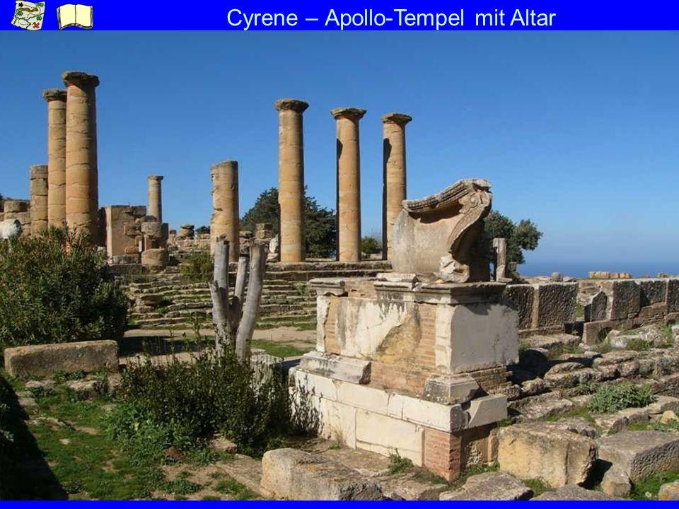 Cyrene – Apollo-Tempel mit Altar