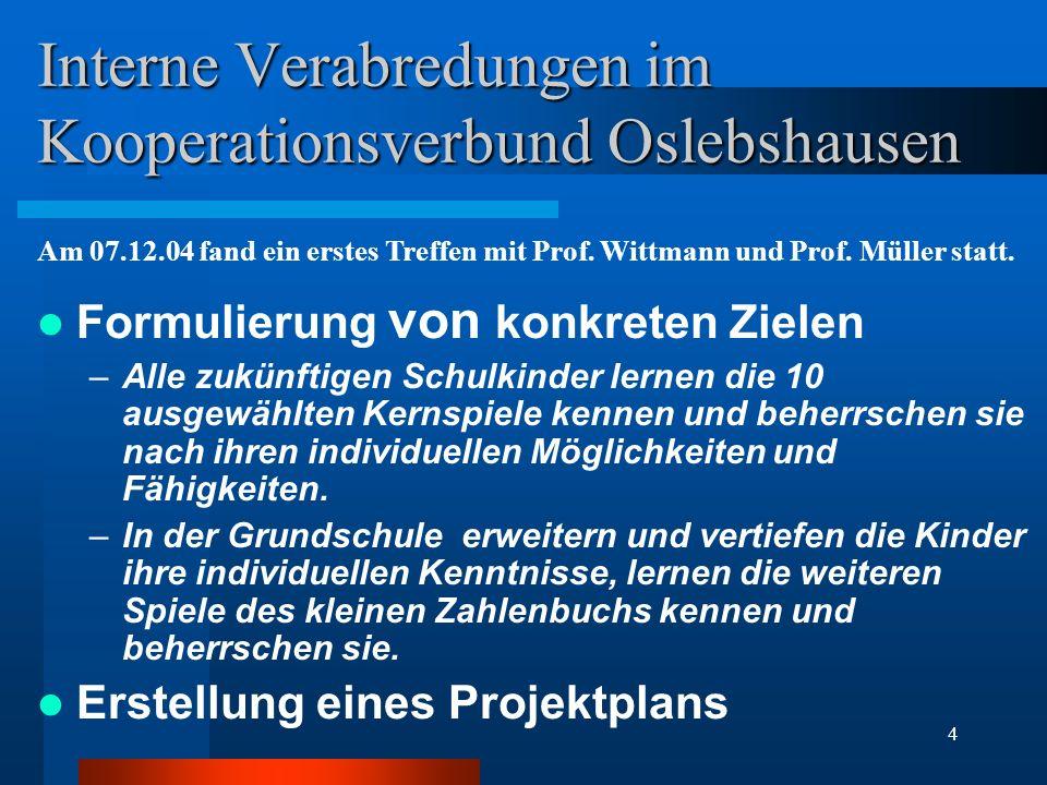 Interne Verabredungen im Kooperationsverbund Oslebshausen