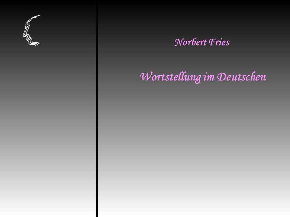 Wortstellung im Deutschen