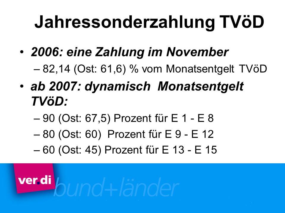 Jahressonderzahlung TVöD