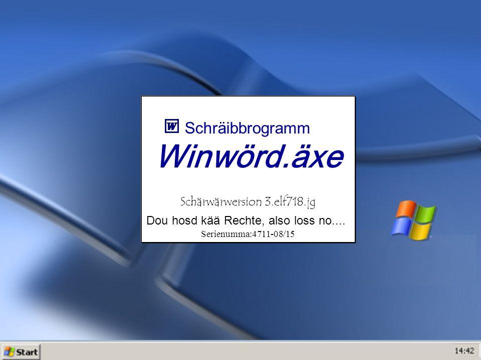 Winwörd.äxe Schräibbrogramm Schärwärwersion 3.elf718.jg