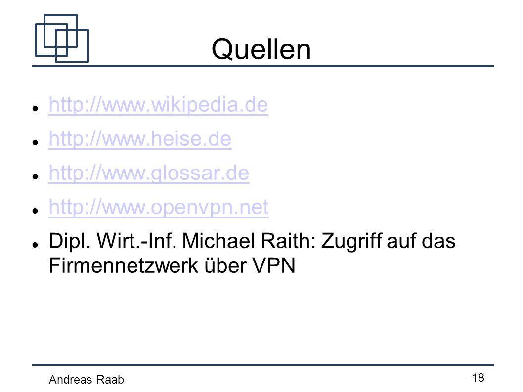 Quellen http://www.wikipedia.de http://www.heise.de