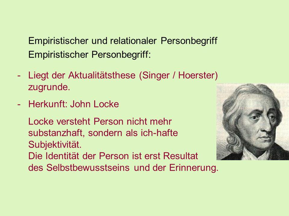 Empiristischer und relationaler Personbegriff