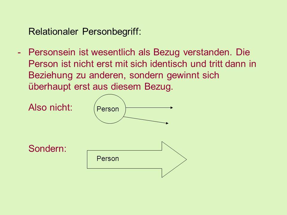 Relationaler Personbegriff: