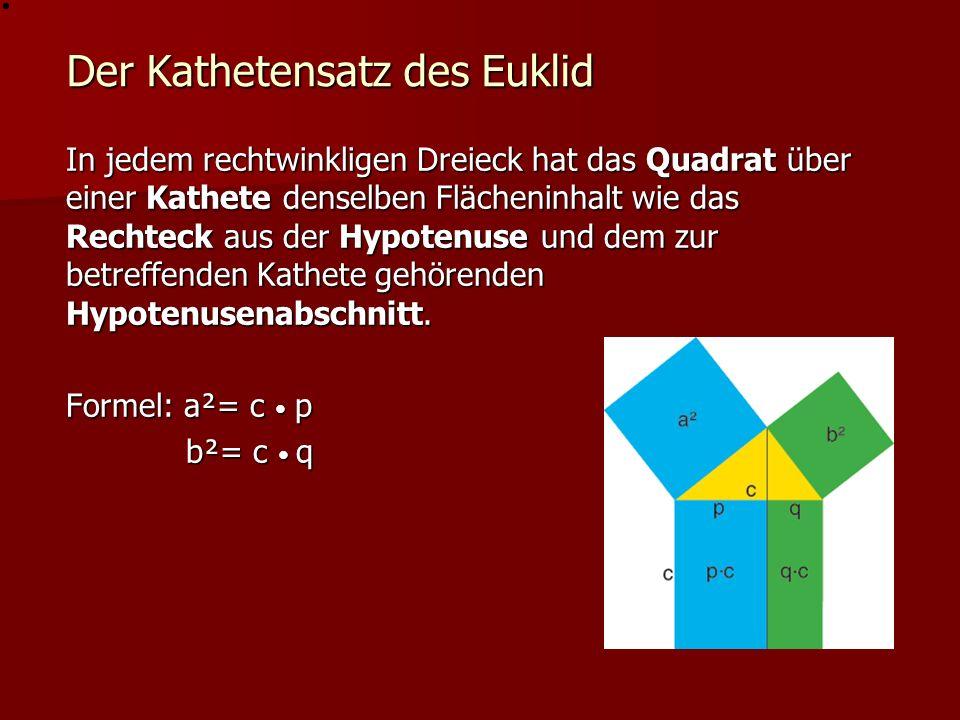 Der Kathetensatz des Euklid