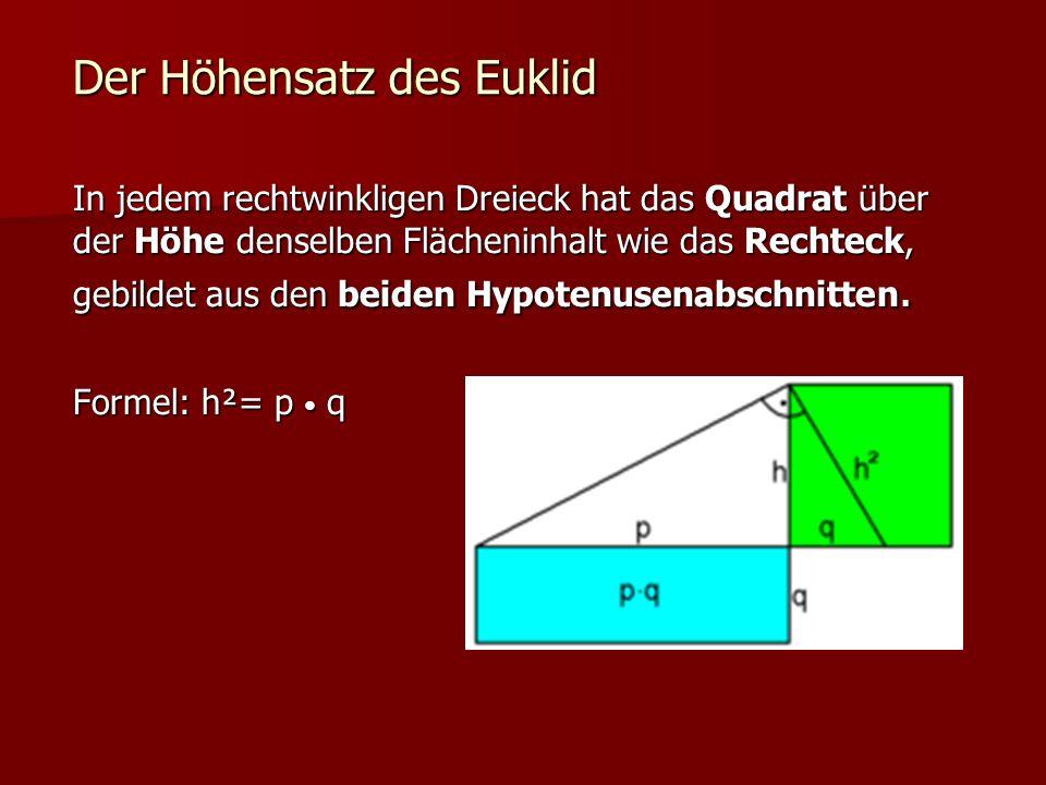 Der Höhensatz des Euklid