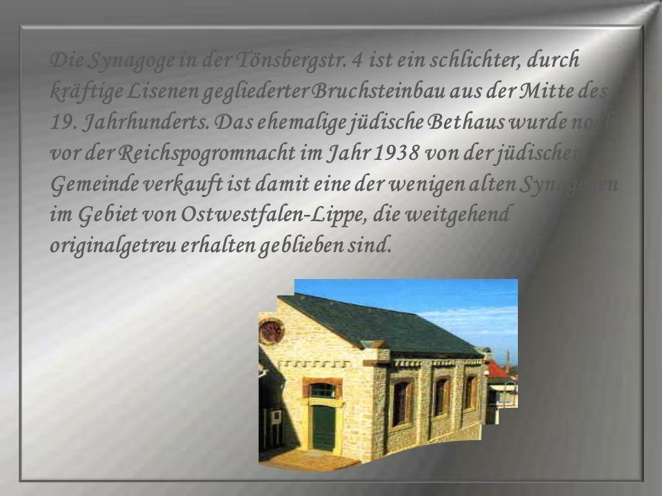 Die Synagoge in der Tönsbergstr