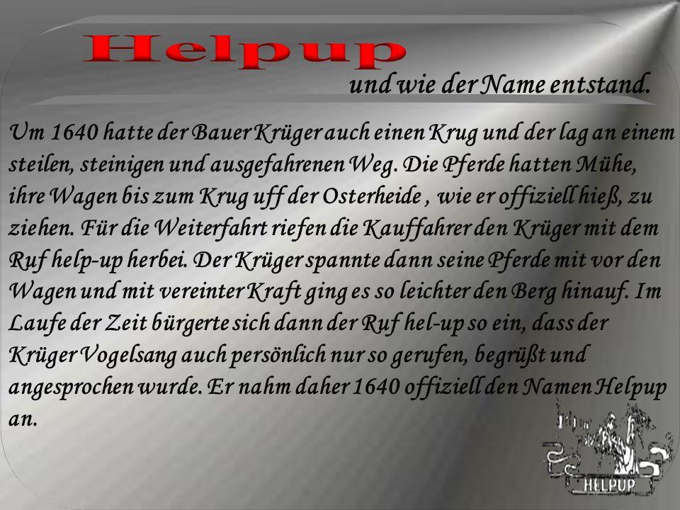 Helpup und wie der Name entstand.