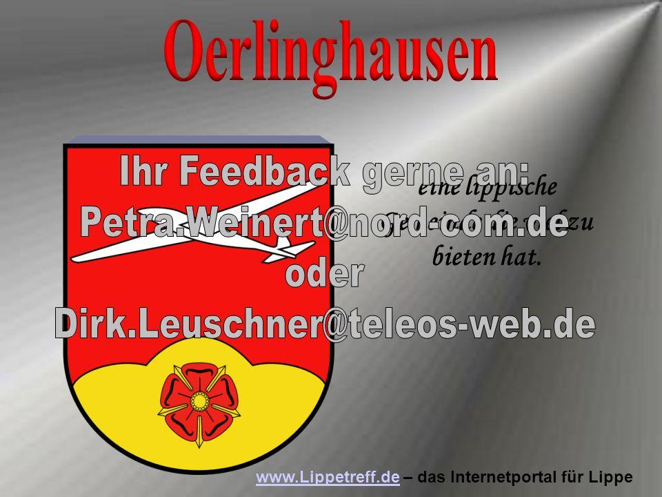 Oerlinghausen Ihr Feedback gerne an: Petra.Weinert@nord-com.de oder