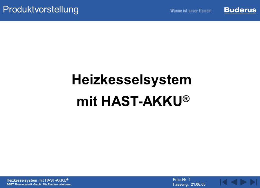 Heizkesselsystem mit HAST-AKKU®