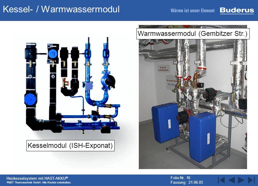 Kessel- / Warmwassermodul