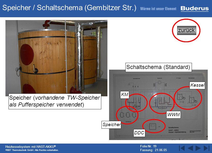 Speicher / Schaltschema (Gembitzer Str.)