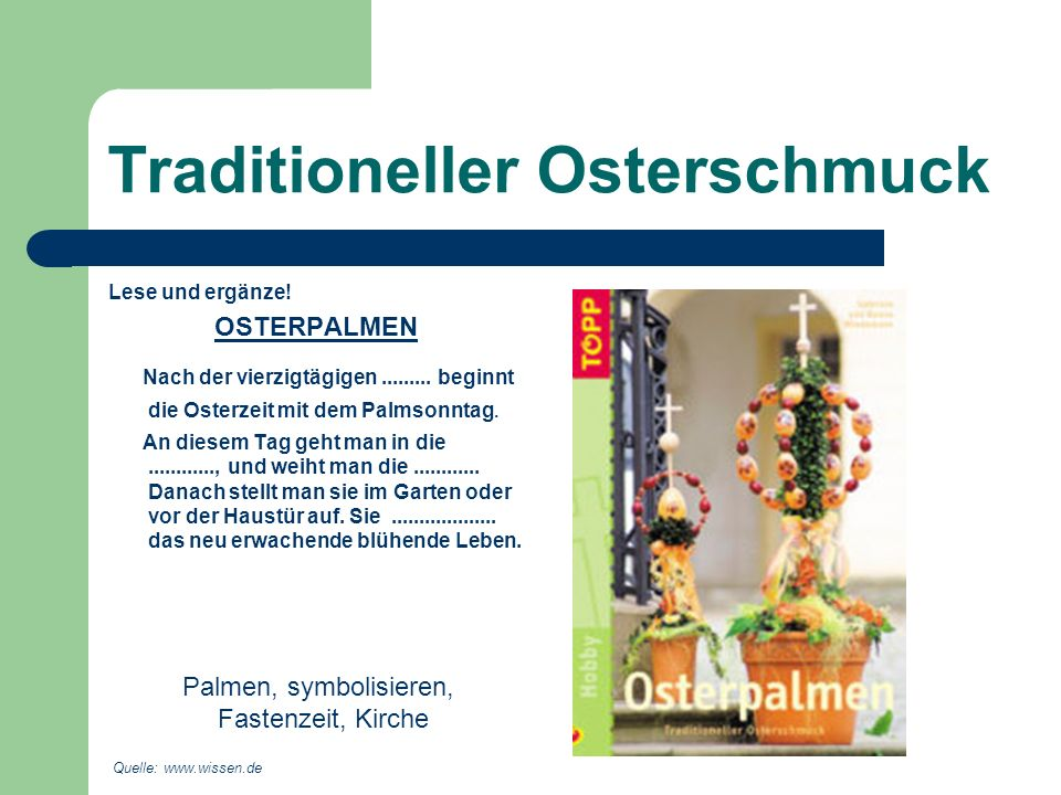 Traditioneller Osterschmuck