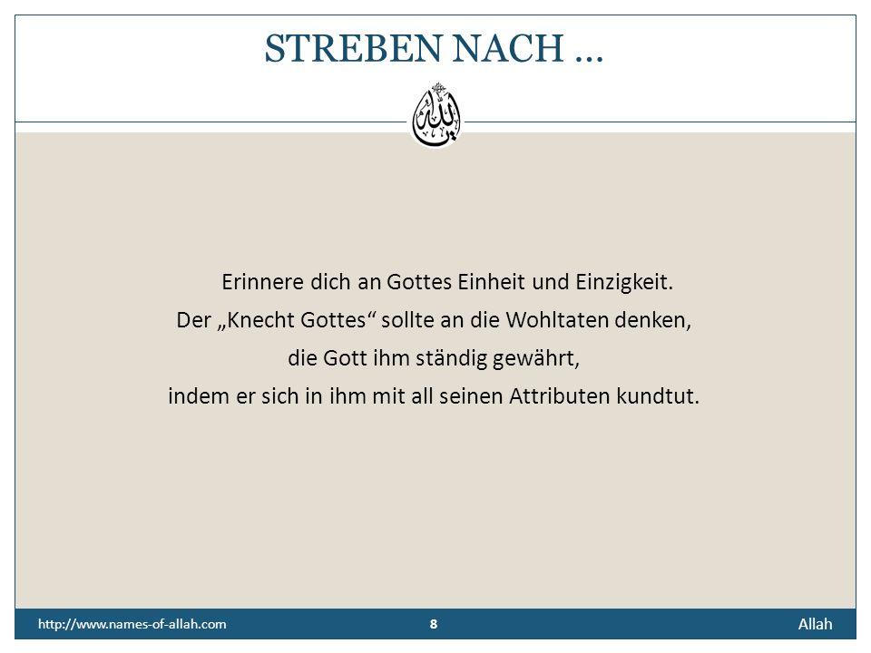 """STREBEN NACH … Der """"Knecht Gottes sollte an die Wohltaten denken,"""