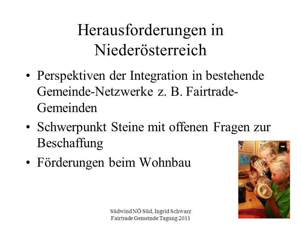 Herausforderungen in Niederösterreich