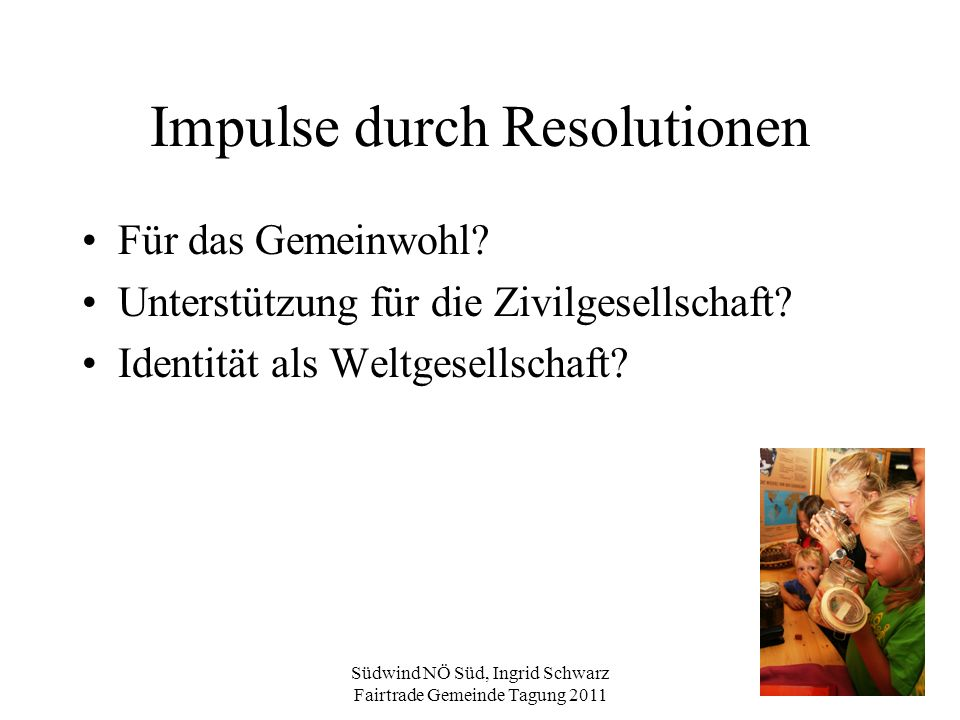 Impulse durch Resolutionen