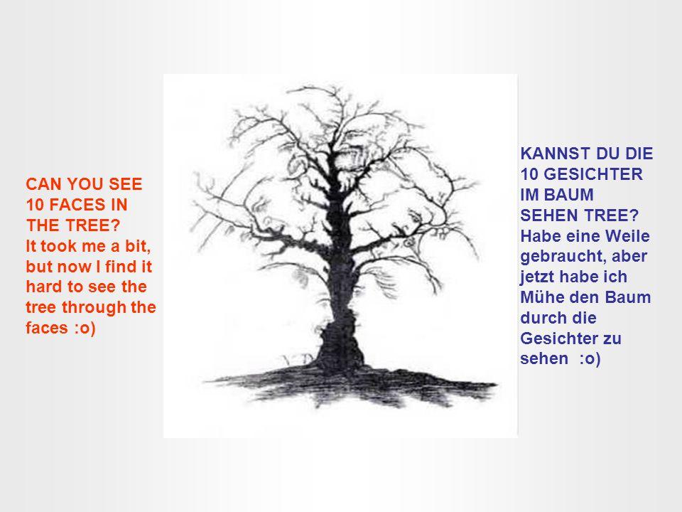 KANNST DU DIE 10 GESICHTER IM BAUM SEHEN TREE