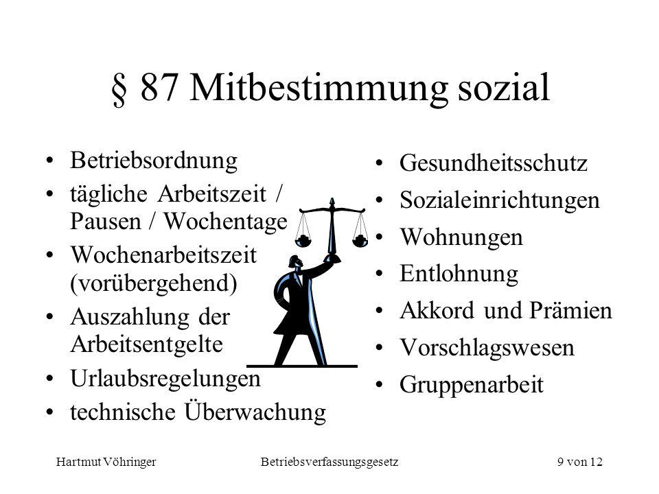 § 87 Mitbestimmung sozial