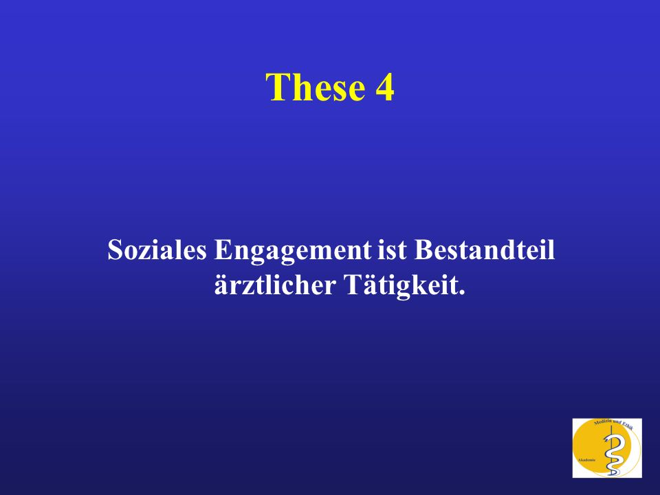 Soziales Engagement ist Bestandteil ärztlicher Tätigkeit.