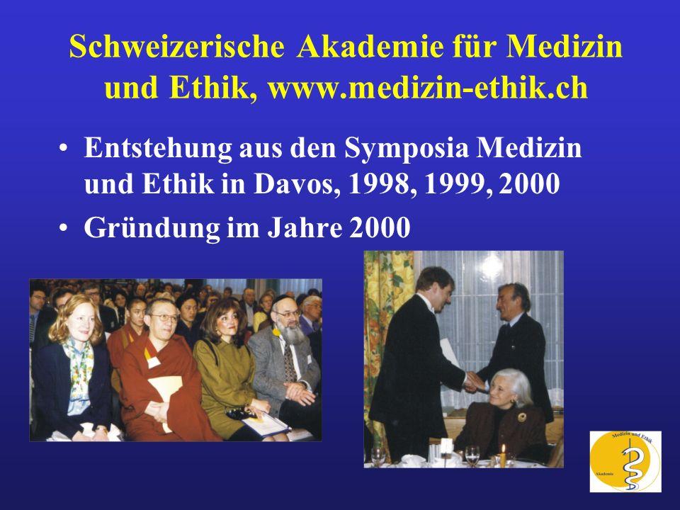 Schweizerische Akademie für Medizin und Ethik, www.medizin-ethik.ch