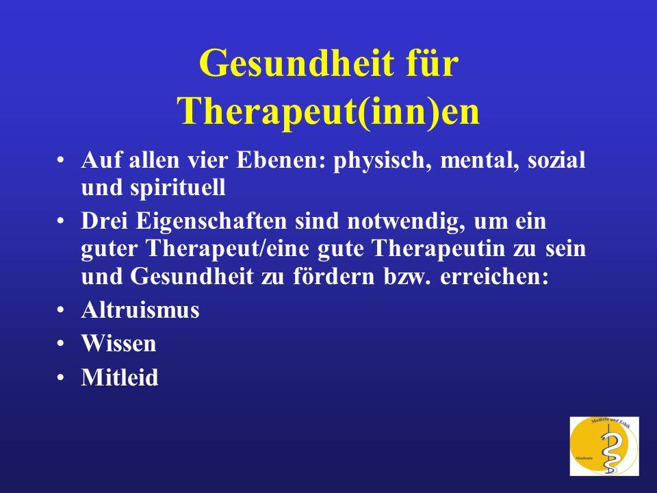 Gesundheit für Therapeut(inn)en