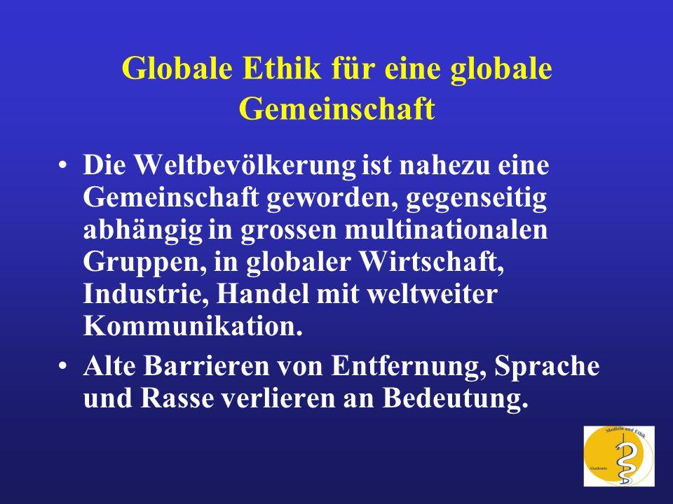Globale Ethik für eine globale Gemeinschaft