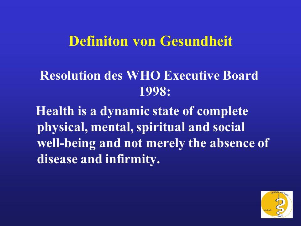 Definiton von Gesundheit