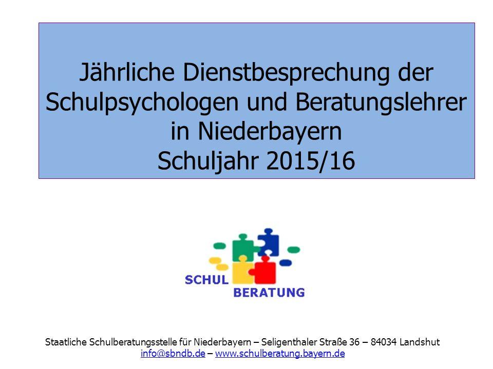 info@sbndb.de – www.schulberatung.bayern.de