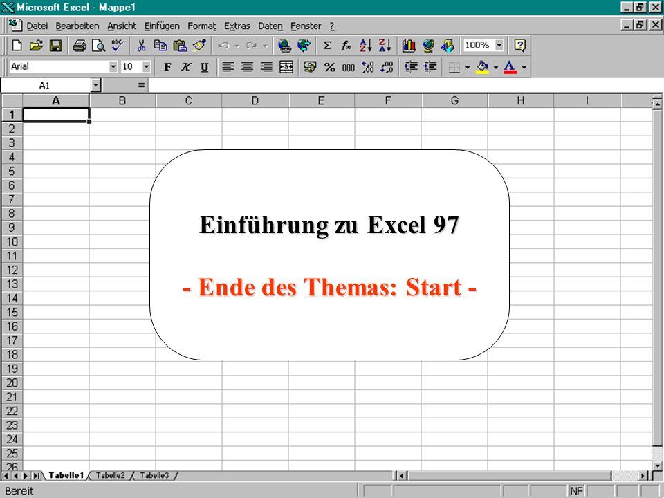 - Ende des Themas: Start -