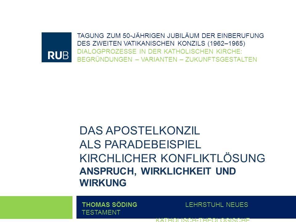 TAGUNG ZUM 50-JÄHRIGEN JUBILÄUM DER EINBERUFUNG DES ZWEITEN VATIKANISCHEN KONZILS (1962–1965)